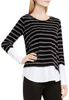 Vince Camuto Two by VINCE CAMTUO Striped Layered-Look Sweater