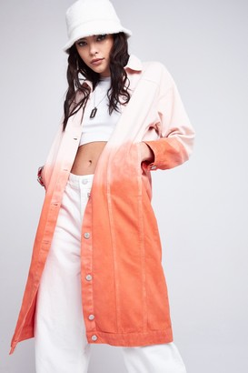 Jaded London Womens **Red Ombre Coat By Red