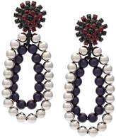 Marni beased strass clip-on earrings