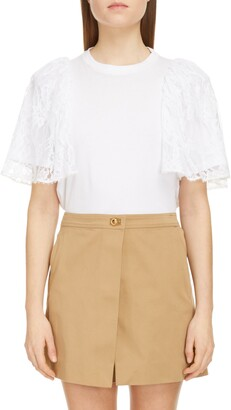 Givenchy Lace Sleeve T-Shirt
