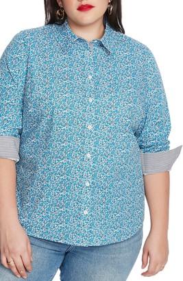 Court & Rowe Sweet Ditsy Fields Print Shirt