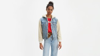 Levi's Ex-Boyfriend Sherpa Hooded Trucker Jacket