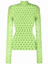 Thumbnail for your product : MAISIE WILEN Wasabi mesh top