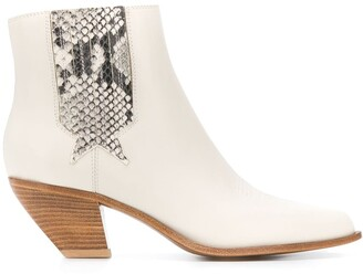 Golden Goose angular Cuban-heel ankle boots