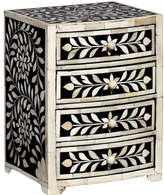 "Mela Artisans Natural Wood & Resin Keepsake Chest ""Imperial Beauty"""