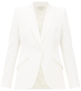 Alexander McQueen Leaf Single Breasted Crepe Jacket - Womens - Ivory