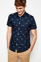 Jack Wills Stableton Rower Print Ss Shirt