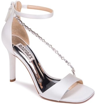 Badgley Mischka Erika Crystal Cross Strap Sandal