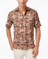 Tasso Elba Men's Tropical Plaid Short-Sleeve Shirt, Only at Macy's