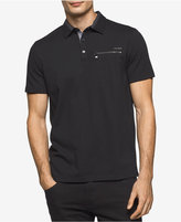 Calvin Klein Men's Liquid Cotton Zip-Pocket Polo