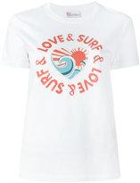 RED Valentino love & surf print T-shirt - women - Cotton - M