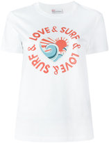RED Valentino love & surf print T-shirt - women - Cotton - XS