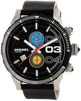 Diesel Men&s Double Down Leather Strap Watch