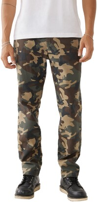 Dean Big T Camo Print Relaxed Fit Chinos