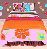 Bacati Valley of Flowers Pink Multicolor Comforter Set