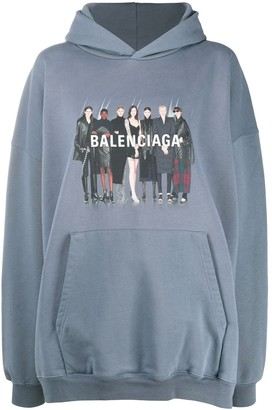 Balenciaga Real logo-print hoodie