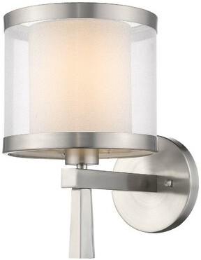 Ebern Designs Alhan 1 Light Dimmable Brushed Nickel Armed Sconce Shopstyle