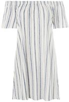 Topshop Stripe bardot dress