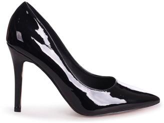 Linzi DYNAMIC - Black Patent Stiletto Pointed Court Heel