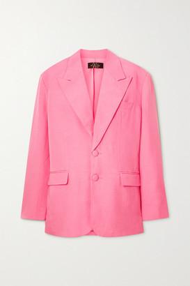 De La Vali Montana Tencel And Linen-blend Blazer - Pink