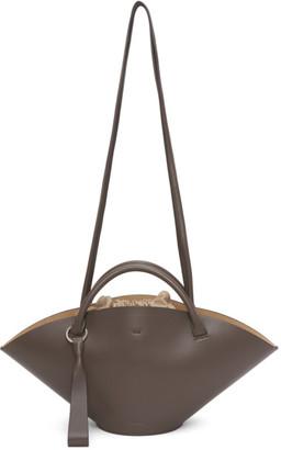Jil Sander Grey Small Sombrero Bag