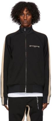 Mastermind Japan Black and Beige Side Line Track Jacket