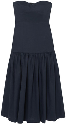 Veronica Beard Fiore Strapless Linen-blend Midi Dress