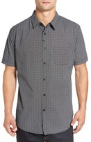 Imperial Motion Men's 'Branch' Slim Fit Print Short Sleeve Woven Shirt
