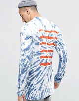 Weekday Jake Long Sleeve Top Tie Dye Print
