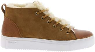 Blackstone Shearling-Lined Lace-Up Sneakers
