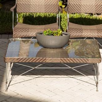 Bungalow Rose Zen Outdoor Glass Coffee Table