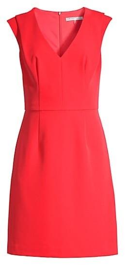 Trina Turk Fiery V-Neck Pleated Dress