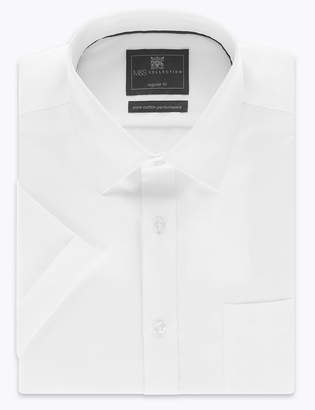 Marks and Spencer Regular Fit Pure Cotton Twill Non-Iron Shirt