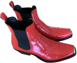 Calvin Klein Orange Patent leather Boots
