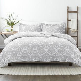 Home Collection Premium Ultra Soft Damask Pattern Duvet Cover Set