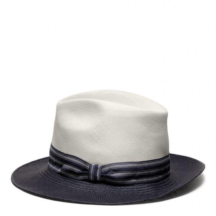 Coach Saint James Colorblock Panama Hat