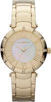 Liz Claiborne Womens Gold-Tone Mother-of-Pearl Bracelet Watch