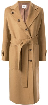 Moon J Belted Double-Breasted Coat
