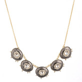 Alexis Bittar Crystal and Stone Small Bib Necklace