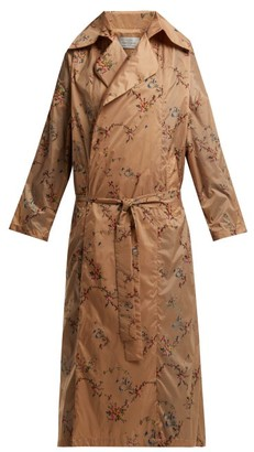 Preen by Thornton Bregazzi Arlissa Floral Garland Print Lightweight Coat - Nude Multi