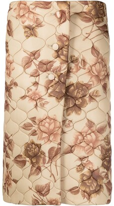 Kwaidan Editions Floral-Print Quilted Skirt