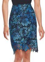 T Tahari Floral Lace Skirt