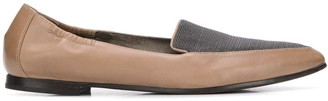 Brunello Cucinelli Pointed Leather Loafers