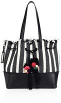 Loeffler Randall Striped Drawstring Tote