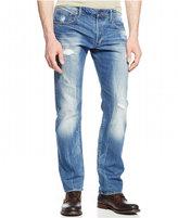 G Star Men's Attac Light Aged Destroyed Straight Fit Jeans