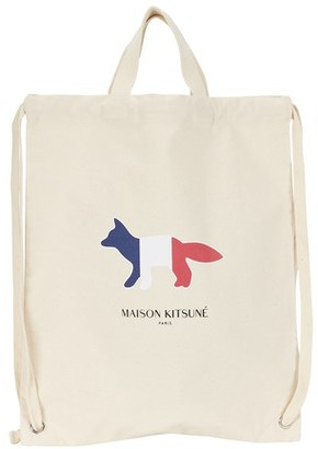 MAISON KITSUNÉ Tricolor Fox tote backpack