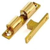 Securit Double Ball Catch Brass 42mm
