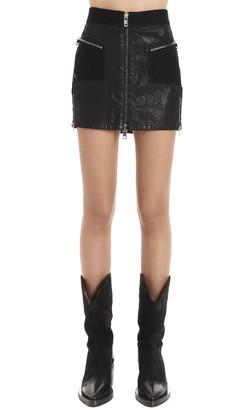 Diesel Front Zip Mini Skirt