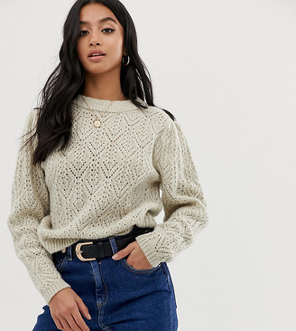ASOS DESIGN Petite sweater with stitch detail