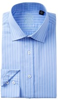 English Laundry Pencil Stripe Trim Fit Dress Shirt